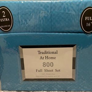 Traditional At Home 6pc Full Sheet Set Robin blue